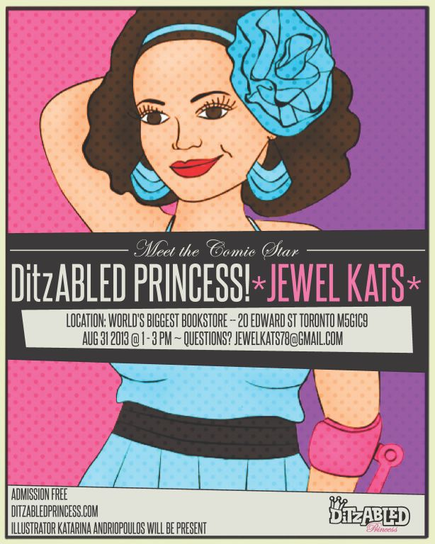 DitzAbled Princess book signing